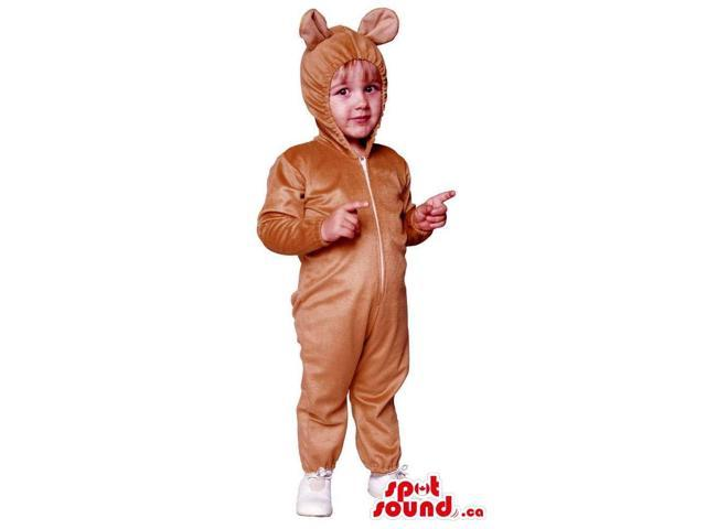 Cute Halloween Brown Mouse Children Size Plush Costume Disguise