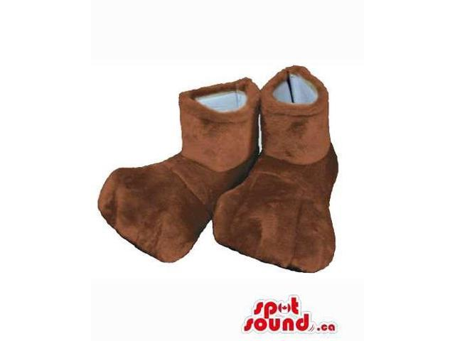 Best Quality Washable Brown Plush Feet For Animal Canadian SpotSound Mascots