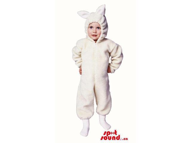 Cute Halloween White Sheep Children Size Plush Costume Disguise