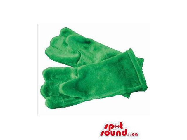 Best Quality Washable Green Gloves Hands For Animal Canadian SpotSound Mascots