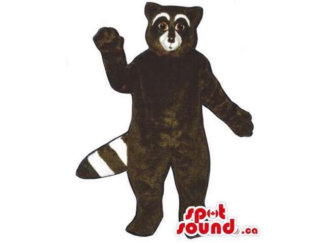 Customised Dark Brown Raccoon Wildlife Animal Canadian SpotSound Mascot