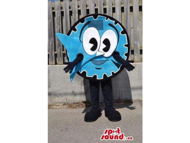Great Large Blue Clock Timer Canadian SpotSound Mascot With A Happy Face
