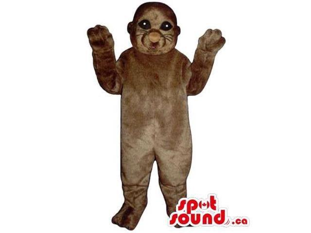 Customised And All Brown Seal Animal Canadian SpotSound Mascot