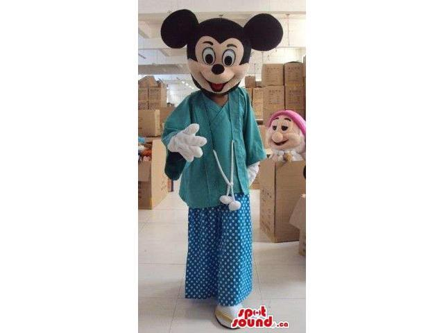 Mickey Mouse Disney Cartoon Character Dressed In Doctor Gear