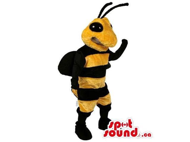 Customised All Bee Canadian SpotSound Mascot With Black Antennae And Eyes