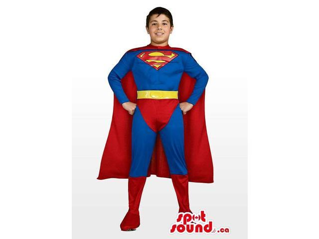 Cool And Strong Superman Children Size Plush Costume