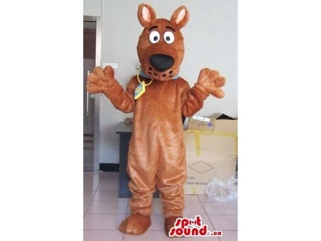 Scooby-Doo Dog Cartoon Character Animal Plush Canadian SpotSound Mascot