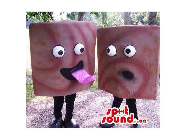 Are A Peculiar Pair Of Squared Candies With Comical Faces