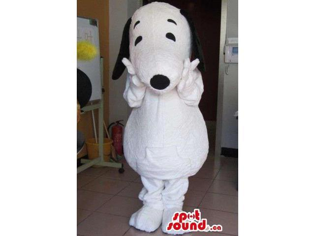 Well-Known Snoopy White Dog Animal Cartoon Character Canadian SpotSound Mascot