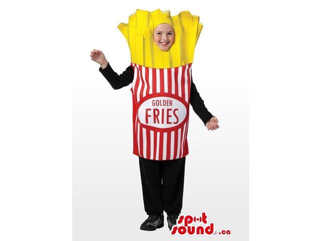 Cool Flashy French Fries Bag Children Size Plush Costume