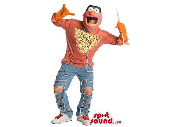 Muppet Character Adult Size Costume Or Canadian SpotSound Mascot Dressed In Jeans