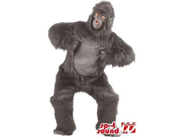 Woolly And Strong Grey Monster Gorilla Plush Canadian SpotSound Mascot