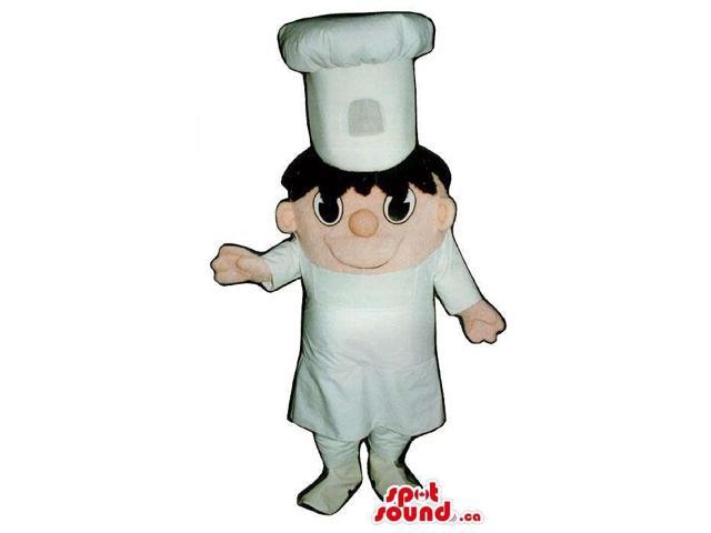Hilarious Boy Chef Human Canadian SpotSound Mascot With White Clothes