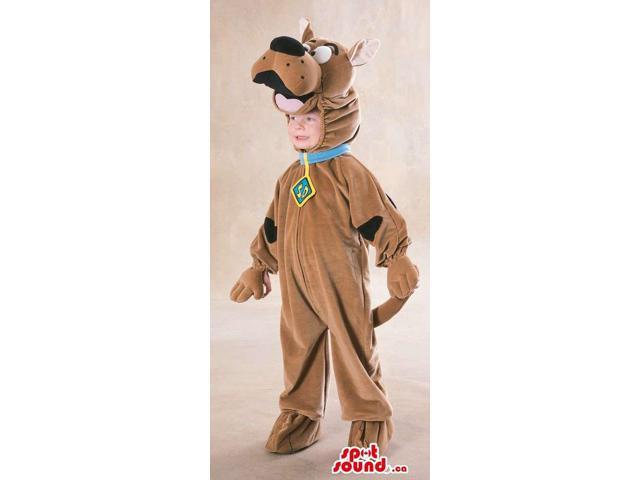 Cute Scooby-Doo Cartoon Character Dog Children Size Costume