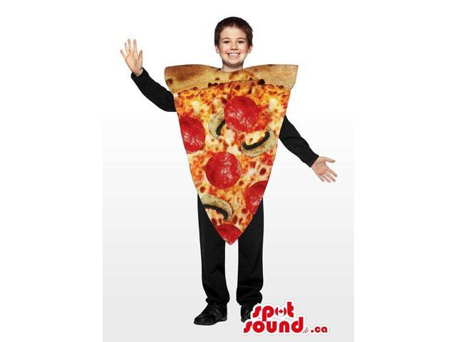 Real-Looking Pepperoni Pizza Slice Children Size Costume