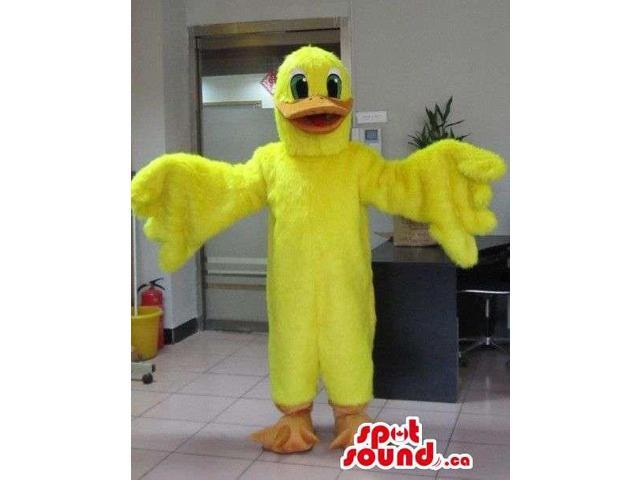 Customised Yellow Duck Animal Plush Character Canadian SpotSound Mascot