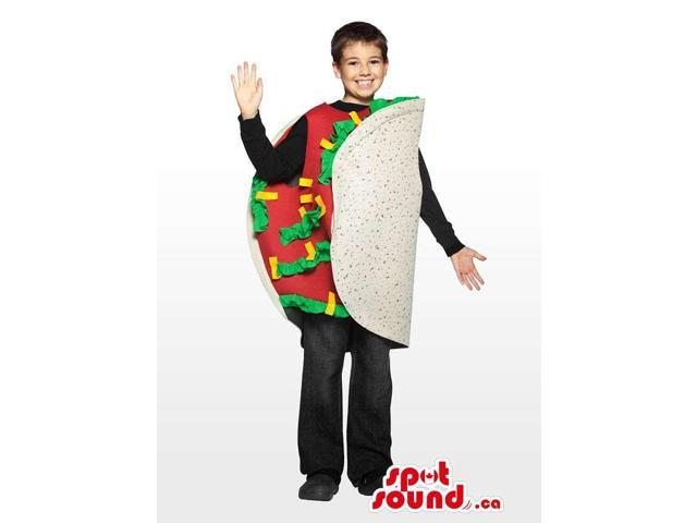 Cool And Flashy Mexican Taco Children Size Costume