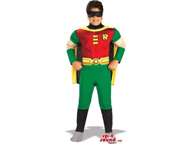Well-Known Robin Batman Super Hero Character Children Size Costume