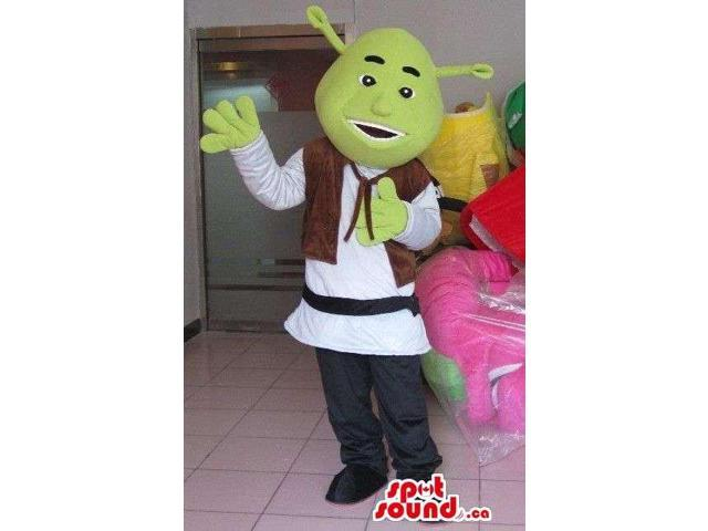 Shrek The Green Ogre Well-Known Movie Character Canadian SpotSound Mascot