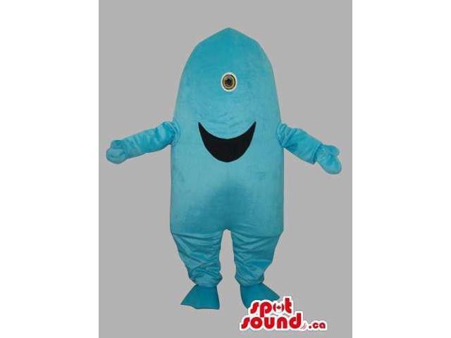 Blue One-Eyed Monster Alien Character Plush Canadian SpotSound Mascot