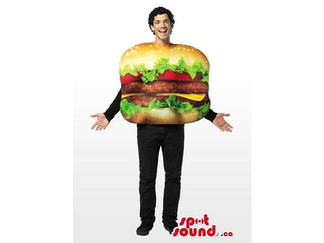 Real-Looking Great Huge Hamburger Adult Size Costume
