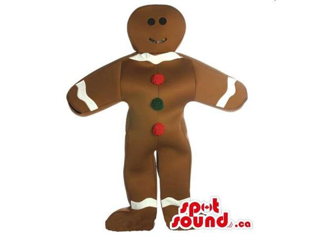 Ginger Bread Man Or Chocolate Canadian SpotSound Mascot With Buttons