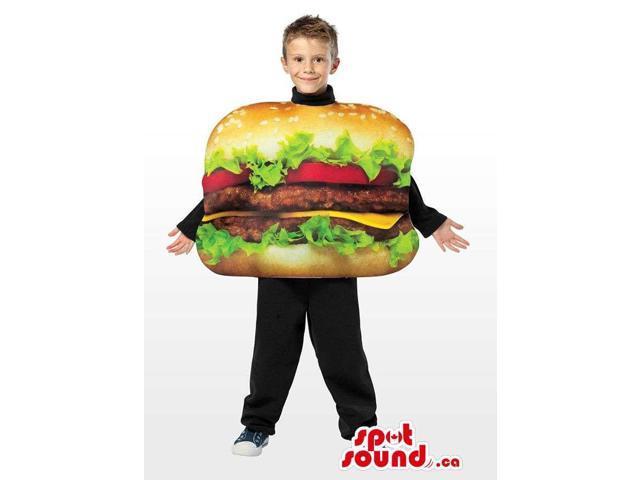 Real-Looking Great Huge Hamburger Children Size Costume