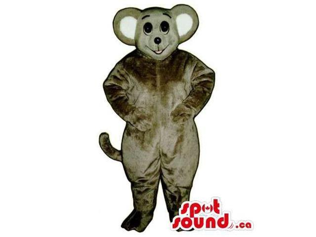 Customised Grey Mouse Animal Canadian SpotSound Mascot With White Ears