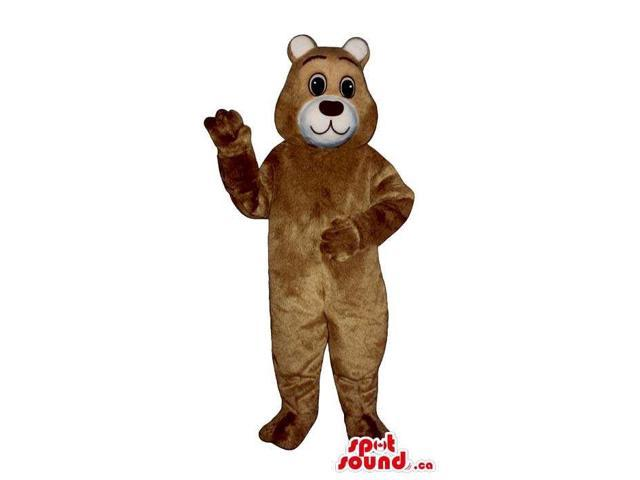 Standard Brown Bear Plush Canadian SpotSound Mascot With A Happy Face