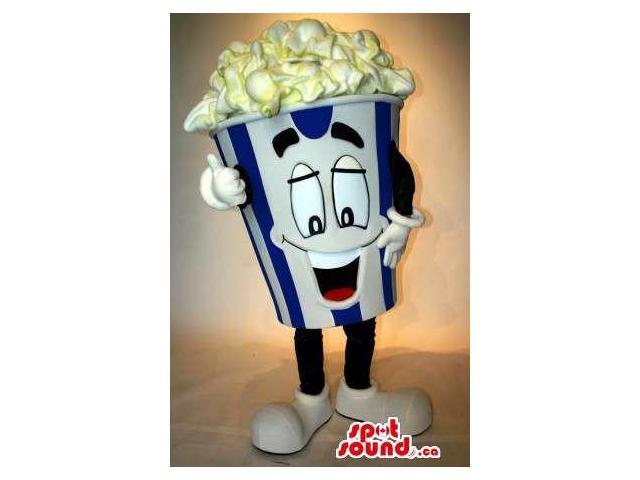 Peculiar Popcorn Box Food Snack Movie Character Canadian SpotSound Mascot