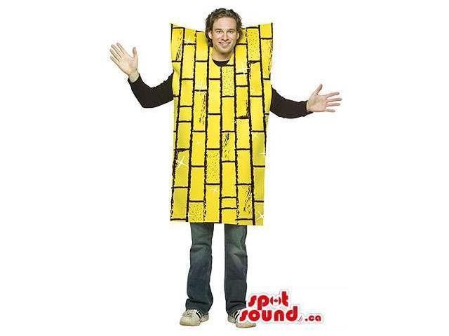 Yellow Brick Wall Adult Size Costume Or Plush Canadian SpotSound Mascot