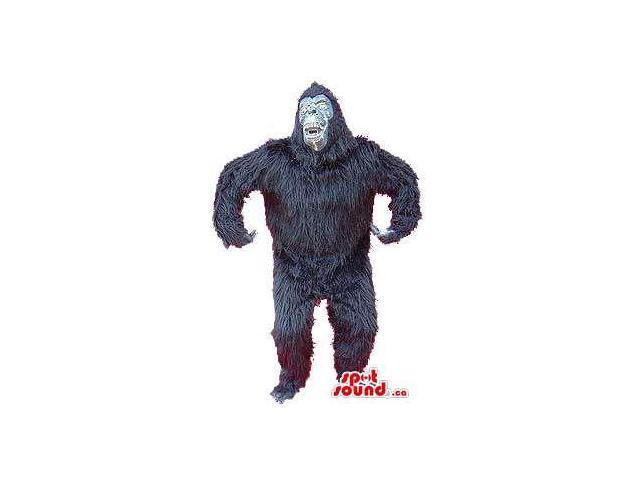Very Scary Expressive Black Gorilla Plush Woolly Canadian SpotSound Mascot