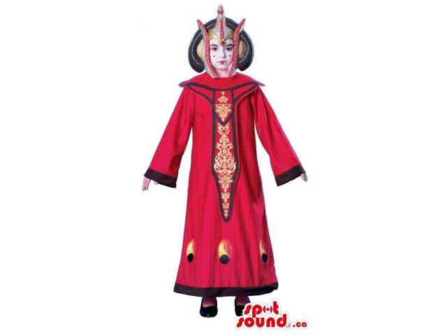 Great Red Thailand Dressed Girl Children Size Costume