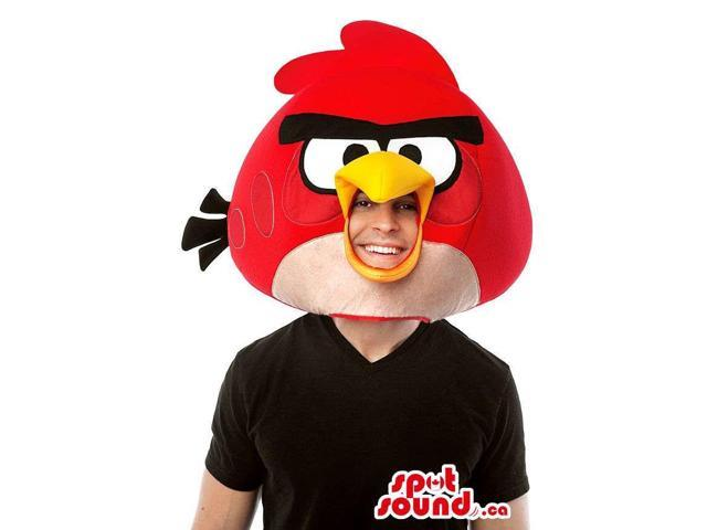 Red Angry Birds Character Adult Size Head Costume