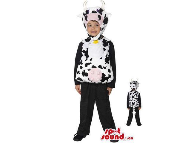 Cute Halloween Cow Children Size Plush Costume Disguise