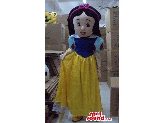 Snow White Girl Beautiful Children Story Disney Character Canadian SpotSound Mascot