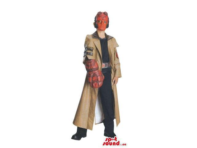Scary Character Children Size Costume With Red Face And Jacket