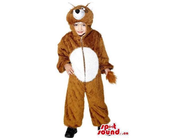 Cute Halloween Brown Bear Children Size Plush Costume Disguise
