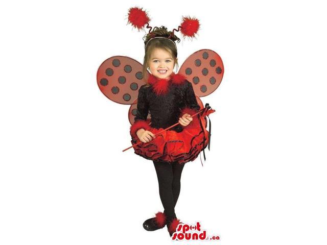 Butterfly Or Ladybird Children Size Costume With Wings