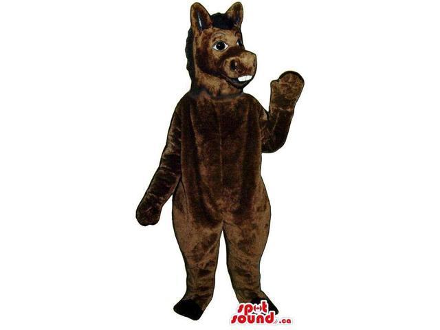 Customised All Brown Donkey Animal Plush Canadian SpotSound Mascot
