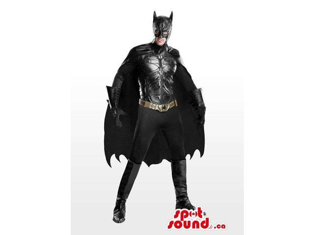 All Black Real-Looking Batman Character Adult Size Costume
