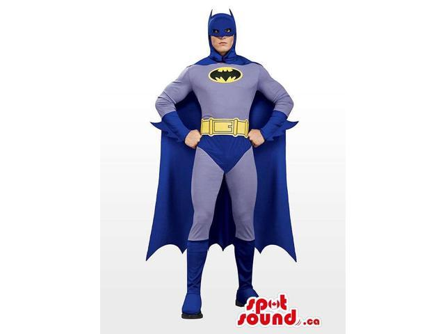 All Blue Real-Looking Batman Character Adult Size Costume