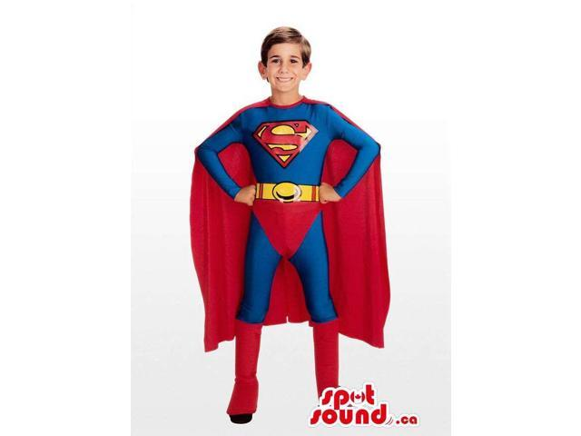 Standard And Well-Known Superman Children Size Costume