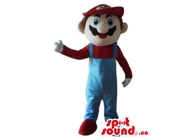 Well-Known Mario Bros. Video Game Character Plush Canadian SpotSound Mascot