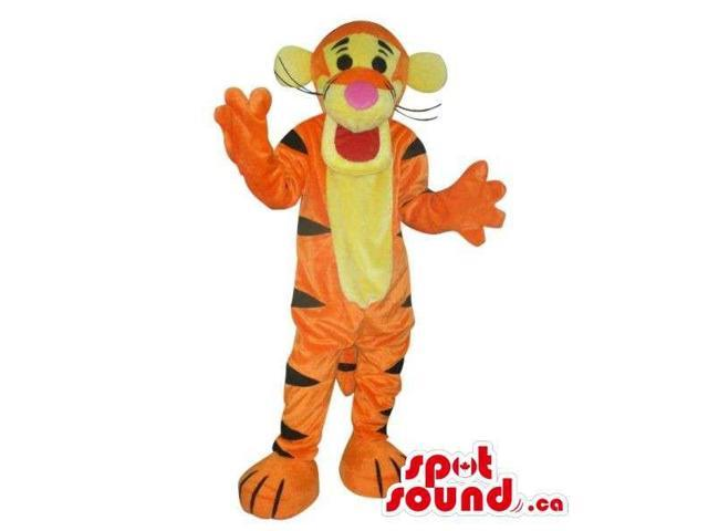 Tiger Winnie The Pooh Character Plush Canadian SpotSound Mascot With Yellow Face