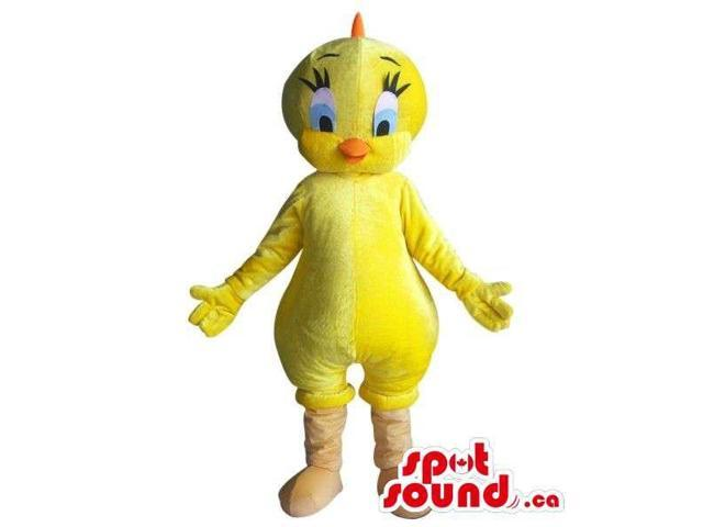 Well-Known Tweety Alike Character Plush Canadian SpotSound Mascot With A Yellow Body