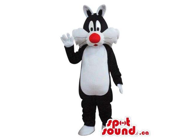 Sylvester Cat Alike Character Plush Canadian SpotSound Mascot With A Red Nose