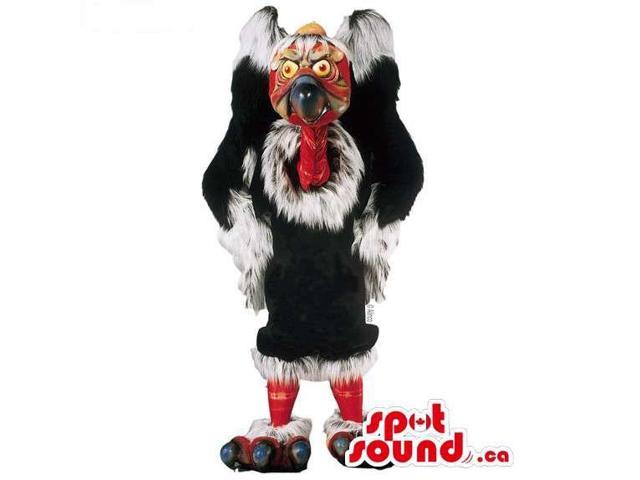 Customised Great Black And Red Turkey Bird Canadian SpotSound Mascot