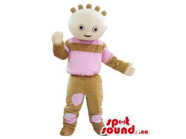 Pastel Color Cosmic Bow Plush Canadian SpotSound Mascot With A Peculiar Hairdo