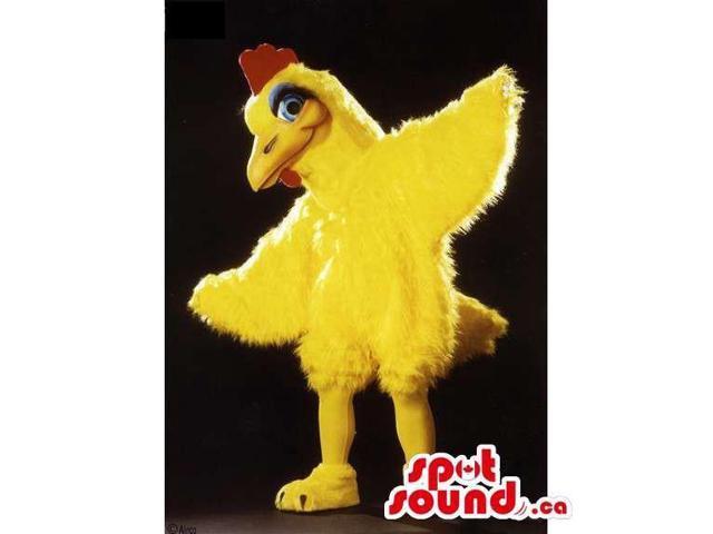 Customised Yellow Chicken Or Hen Bird Animal Canadian SpotSound Mascot